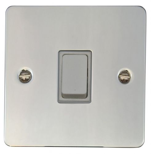 G&H FC5W Flat Plate Polished Chrome 1 Gang Intermediate Rocker Light Switch